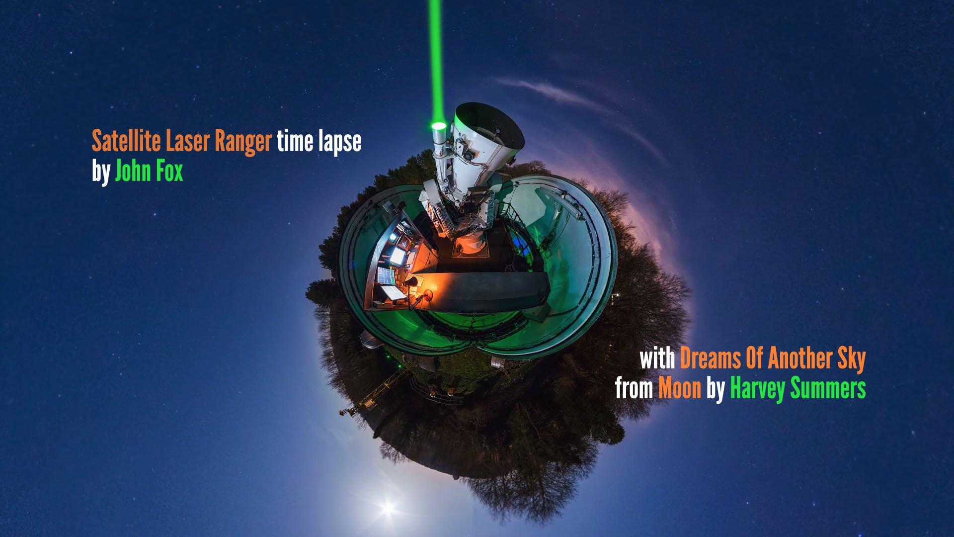 Satellite Laser Ranger Timelapse